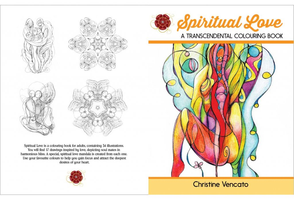 Spiritual love colouring book
