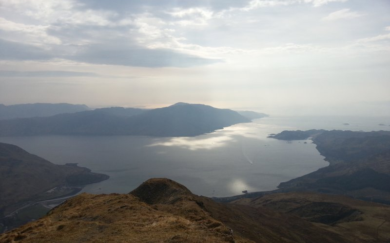 Looking down on Inverie