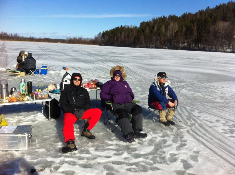 Team EAWAG resting after the last core from field expedition on Lake Onego and Lake Ladoga was taken. Good job guys!