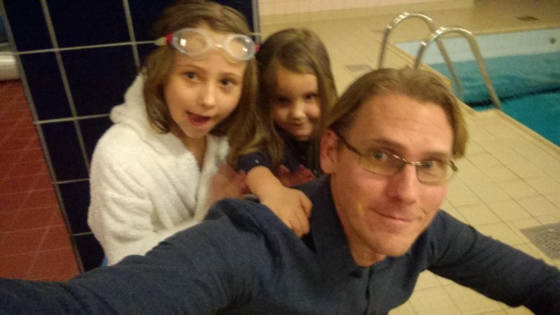 Took the girls to swim school and got a back massage as a thank you.
