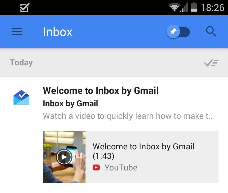 Giving Google Inbox a try. Will write more soon.
