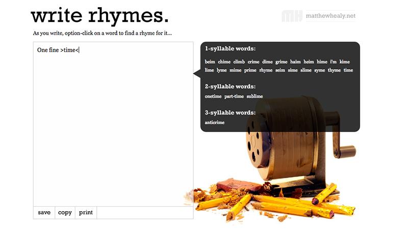 Write Rhymes