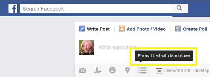 OMG!OMG!OMG! Markdown on Facebook!