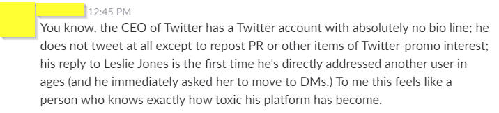Friend makes a salient observation re: Twitter and toxicity