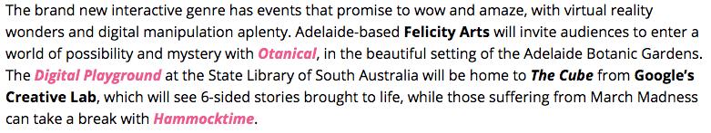 "haha, ""those suffering from March Madness can take a break with Hammocktime"" - we're an #ADLfringe highlight too! :D #hammocktime https://www.adelaidefringe.com.au/news/2016-adelaide-fringe-highlights?utm_source=Adelaide+Fringe+Newsletter&utm_campaign=d5d4da230e-Adelaide_Fringe_Program_Launch_201611_30_2015&utm_medium=email&utm_term=0_738ad03e5e-d5d4da230e-239209257"