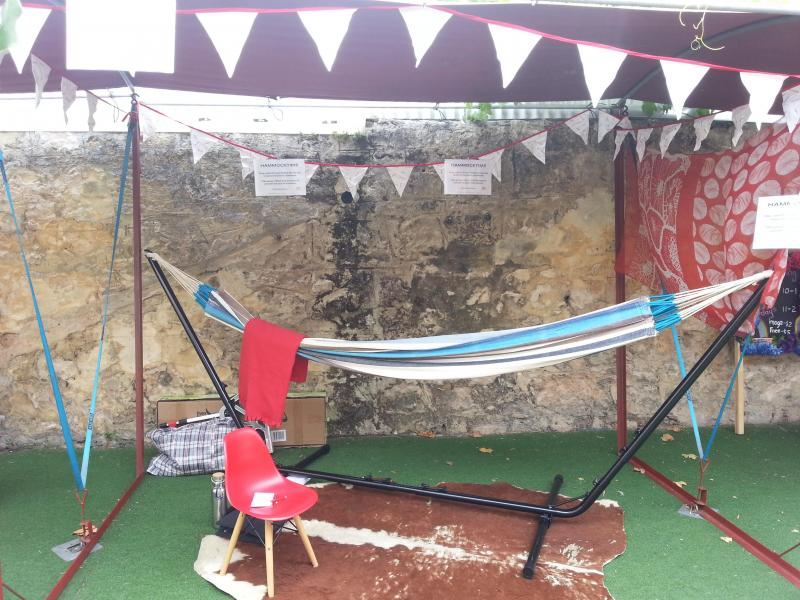 #hammocktime all set up & ready to go at Freo Markets laneway.