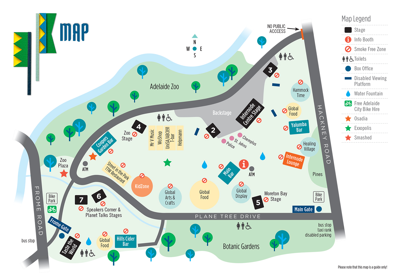 WOMADelaide map