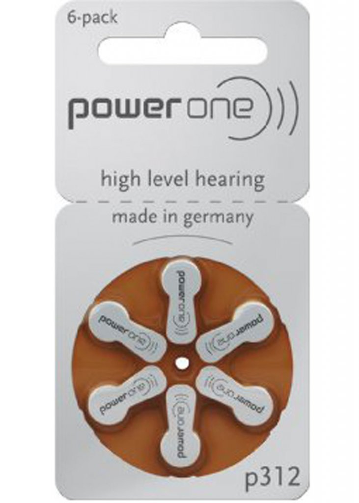 Hearing Aid Batteries Power One P312