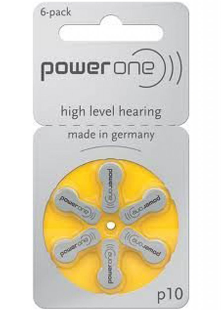 Hearing Aid Batteries Power One P10