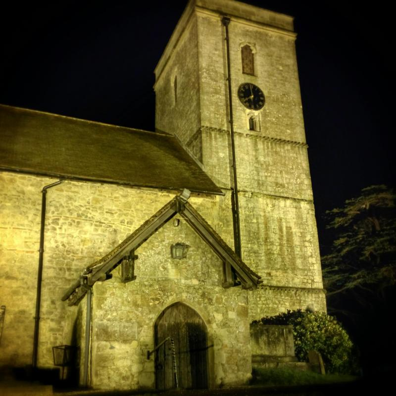 Churches always look best after dark.