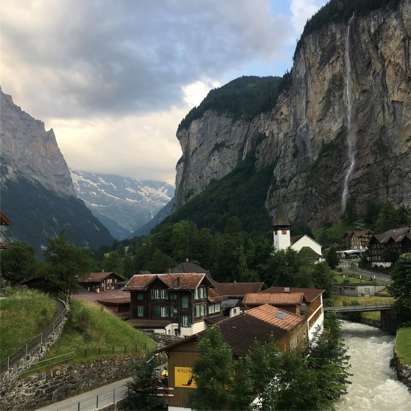 Journey from Lauterbrunnen up to Wengen and my favorite hotel, Hotel Falken