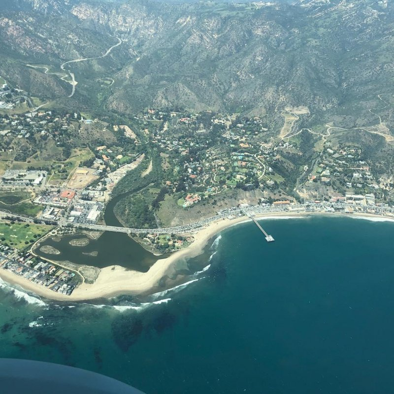 Flying around Malibu last weekend.
