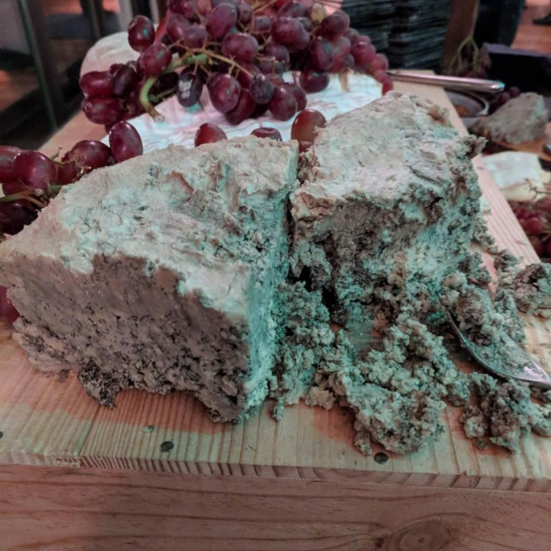 This blue cheese is so blue there's barely any cheese left