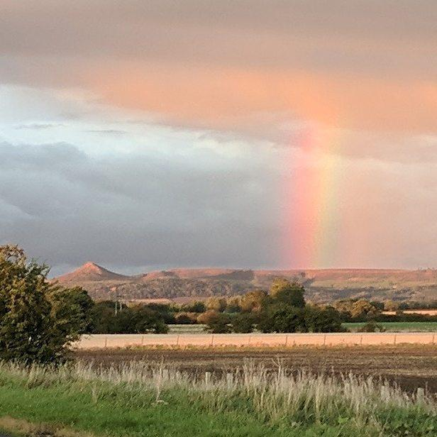 Rainbow over Roseberry Topping