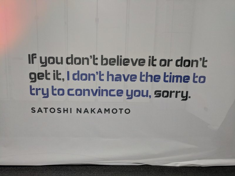 The most inspiring Sataoshi Nakomoto quote at #dxbontheblock