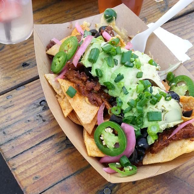 Oh my god. Hella vegan chorizo nachos