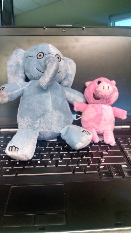 Been hanging out with Piggy and Elephant this afternoon