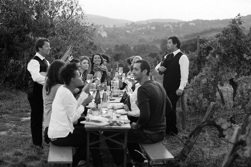 What could be better than dining outdoors between the vines? Nothing. The answer is nothing.