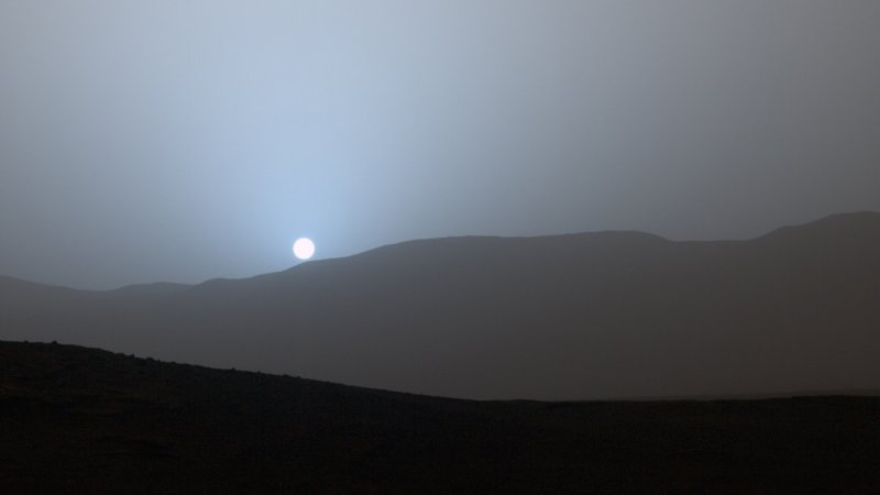 A sunset on Mars.