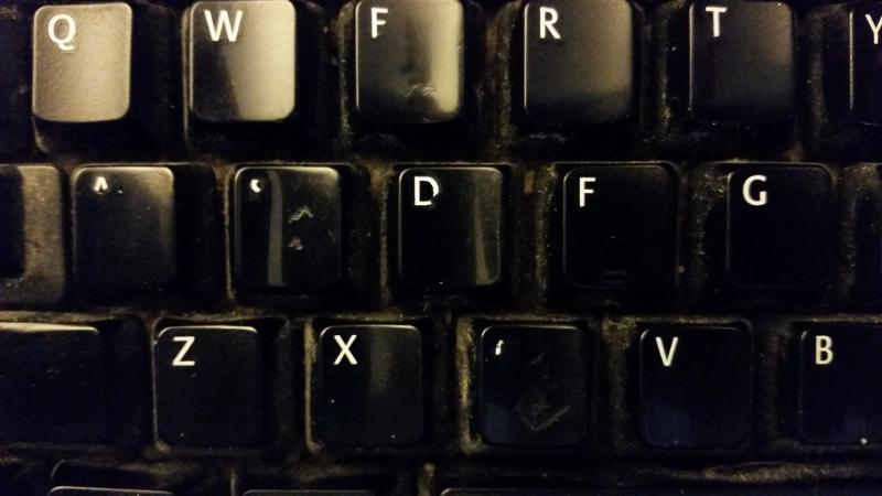 Which keys get used the most?