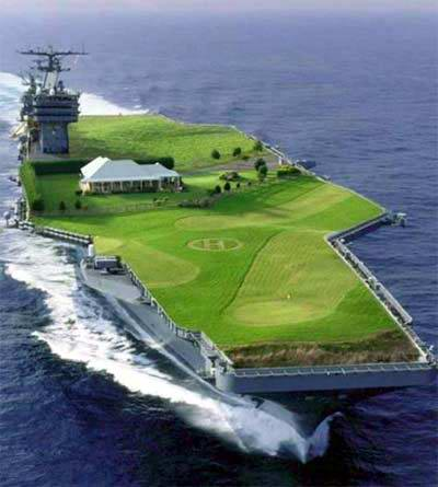 There's some great comments on this old 2007 post from my old blog https://web.archive.org/web/20080219145156/http://www.simonperry.org/golf-courseaircraft-carrier/