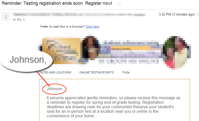 What did you call me? #EmailPersonalizationFail #MarketingFail