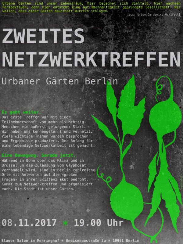 2. Netzwerktreffen Urbaner Gärten Berlin