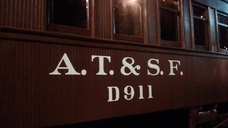 I was at the Kansas Museum recently. This is an actual train car from the Atchison, Topeka and Santa Fe.
