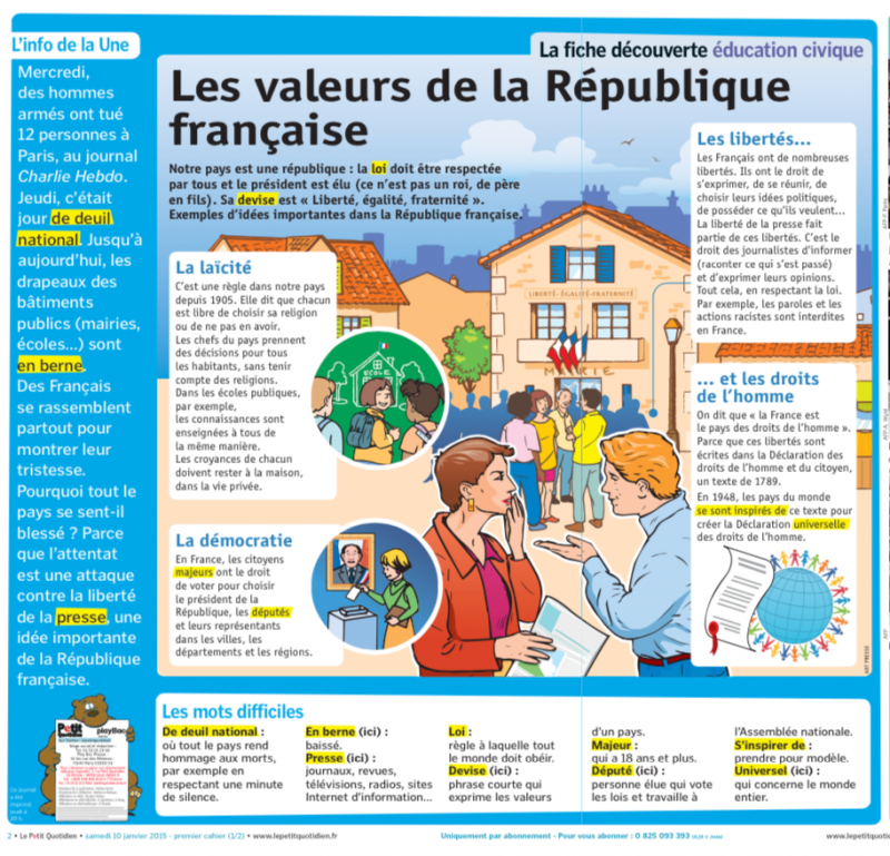 #incollable sur les valeurs de la République. Merci @lepetitquotidien.