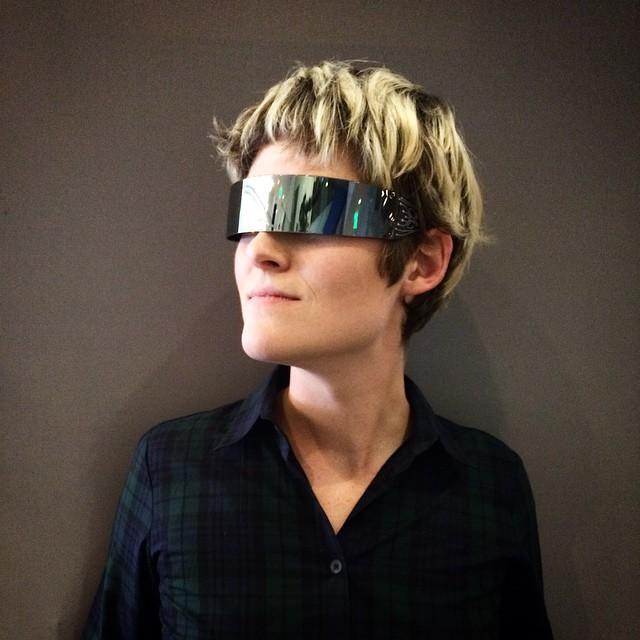 Les belles lunettes d'Amber - #cyborgcamp (photo @t)